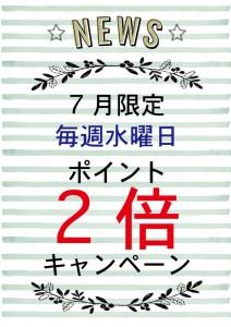 7月ポイント2倍(2)